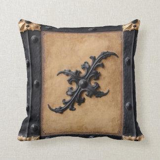 Almofada Travesseiro decorativo tan preto e marrom de