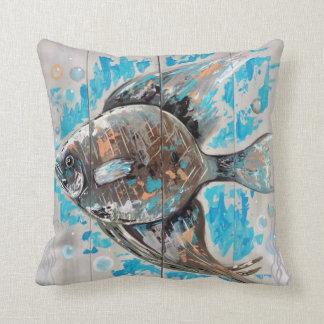 Almofada Travesseiro decorativo tropical dos peixes
