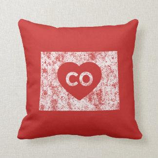 Almofada Travesseiro decorativo usado do estado de Colorado