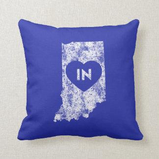 Almofada Travesseiro decorativo usado do estado de Indiana