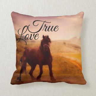 Almofada Travesseiro decorativo verdadeiro do cavalo do