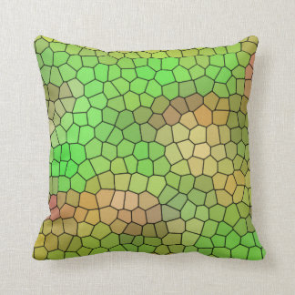 Almofada Travesseiro decorativo verde do design do vitral