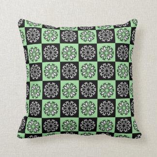 Almofada Travesseiro decorativo verde do teste padrão do