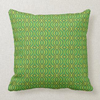 Almofada Travesseiro decorativo verde e amarelo do teste