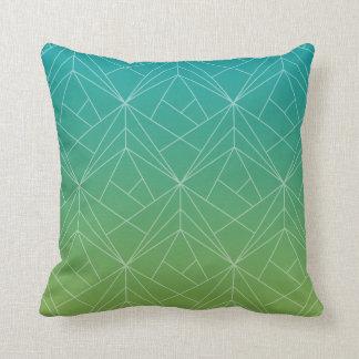 Almofada Travesseiro decorativo verde e azul do teste