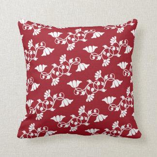 Almofada Travesseiro decorativo vermelho com teste padrão