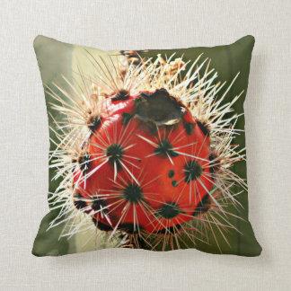 Almofada Travesseiro decorativo vermelho do bulbo do cacto