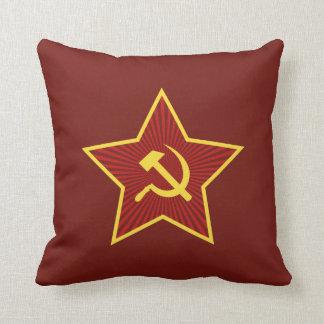 Almofada Travesseiro decorativo vermelho do martelo e da