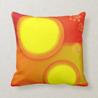Almofada Travesseiro decorativo vermelho e amarelo