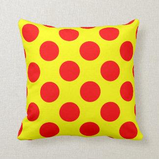 Almofada Travesseiro decorativo vermelho e amarelo das