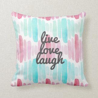 Almofada Travesseiro decorativo vivo da aguarela do riso do