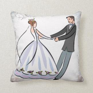 Almofada Travesseiro decorativo Wedding da dança do casal