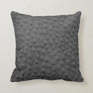 Almofada Travesseiro desproporcionado cinzento da grão do