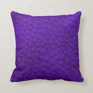 Almofada Travesseiro desproporcionado roxo da grão do couro