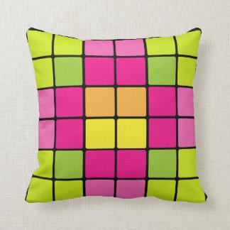 Almofada travesseiro digital colorido da flor