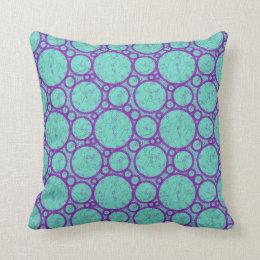 Almofada Travesseiro do algodão das bolhas do azul
