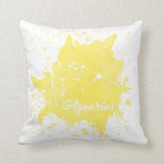 Almofada Travesseiro do amarelo do Aquário