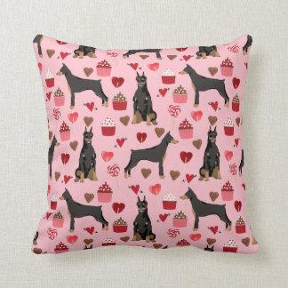 Almofada travesseiro do amor dos namorados do doberman