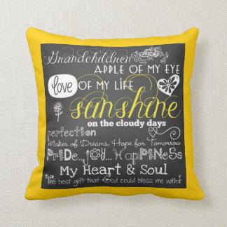 Almofada Travesseiro do amor e da inspiração dos netos