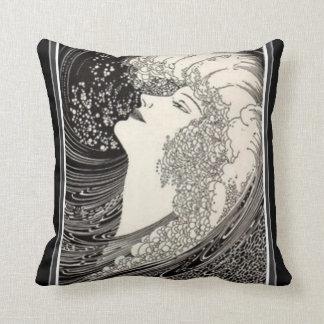Almofada Travesseiro do art deco da voz da sirene