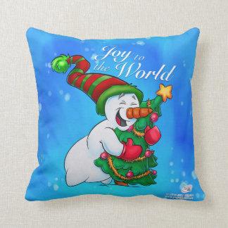 Almofada Travesseiro do boneco de neve que abraça uma