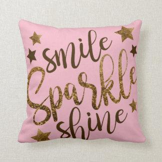 Almofada Travesseiro do brilho da faísca do sorriso