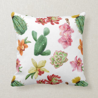 Almofada Travesseiro do cacto da cor de água, travesseiro