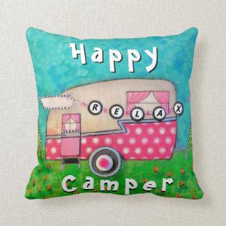 Almofada Travesseiro do campista feliz, arte do campista