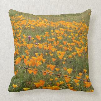 Almofada Travesseiro do campo da papoila de Califórnia