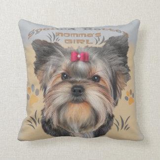 Almofada Travesseiro do cão de Yorkie por PetVenturesUSA