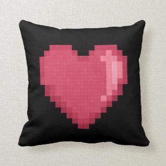 Almofada Travesseiro do coração do pixel