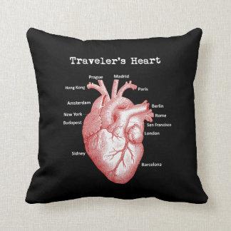 Almofada Travesseiro do coração do viajante