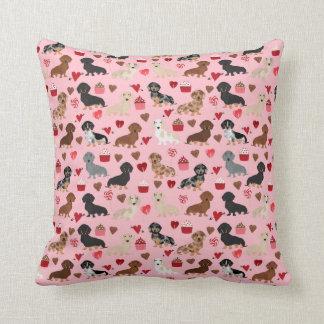 Almofada Travesseiro do dachshund dos namorados de Doxie