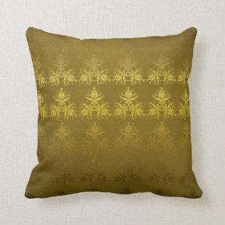 Almofada Travesseiro do damasco do ouro do vintage