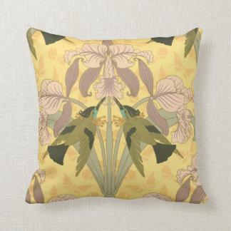 Almofada Travesseiro do design da íris de Nouveau da arte
