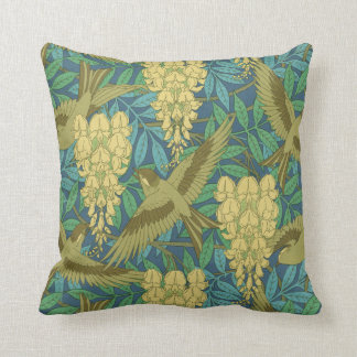 Almofada Travesseiro do design das glicínias de Nouveau da