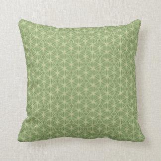Almofada Travesseiro do design geométrico da folha da hera