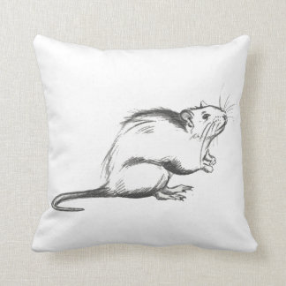 Almofada Travesseiro do esboço do rato do praga