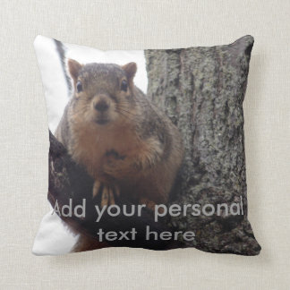 Almofada Travesseiro do esquilo com texto pessoal