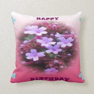 Almofada Travesseiro do feliz aniversario das flores do