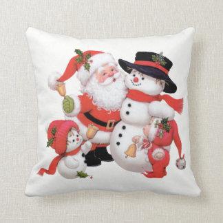 Almofada Travesseiro do feriado do boneco de neve do papai