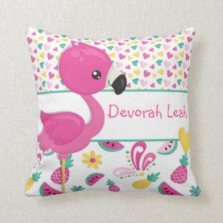 Almofada Travesseiro do flamingo - personalizado com NOME