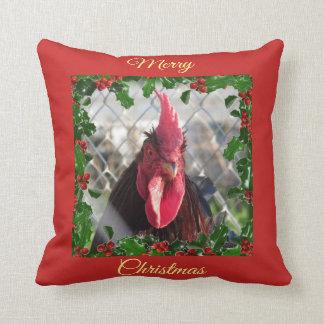 Almofada Travesseiro do galo do Feliz Natal