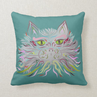 Almofada Travesseiro do gato do desenhista por Leslie