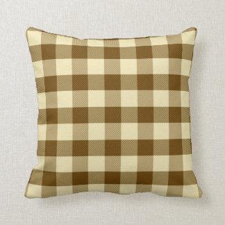Almofada Travesseiro do guingão de Brown