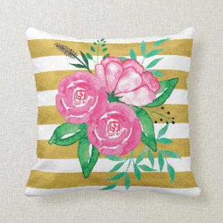 Almofada Travesseiro do impressão da flor da aguarela