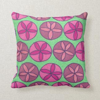 Almofada Travesseiro do impressão do rosa e do verde da