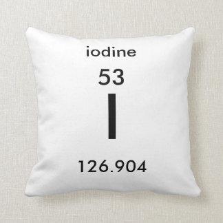 Almofada Travesseiro do iodo da mesa periódica 53