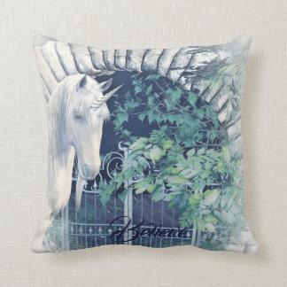 Almofada Travesseiro do jardim do unicórnio
