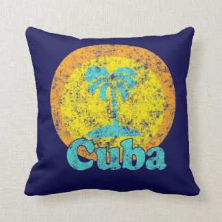 Almofada Travesseiro do logotipo de Cuba do vintage